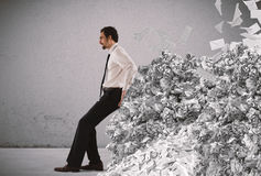 Overwork and spam Royalty Free Stock Image