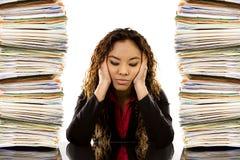 overworked женщина Стоковая Фотография
