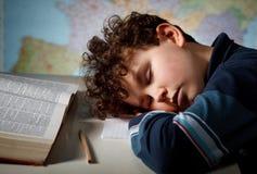overworked студент Стоковая Фотография