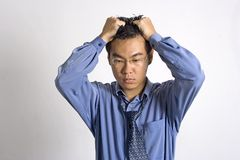 Overworked. Overwork Asian Adult Stock Images