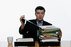 Overworked Business Man Stock Photo