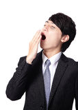 Overworked business man yawning Stock Images