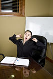 Overworked business woman Stock Images