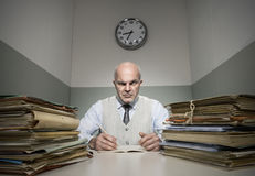 Overworked businessman Royalty Free Stock Photos