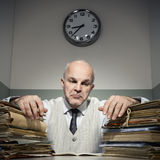 Overworked businessman Stock Photography