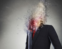 Overworked businessman Royalty Free Stock Images
