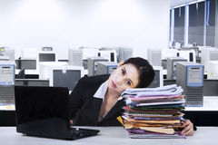 Overworked businesswoman take a rest 1 Stock Photography