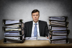 Overworked depressed businessman Royalty Free Stock Photography