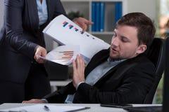 Overworked employee refusing work Royalty Free Stock Photos