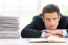 Overworked executive. Royalty Free Stock Photo