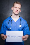 Overworked by many duties Stock Photography