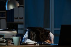 Overworked medical staff take rest sleeping Stock Image