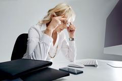 Overworked and overstressed Stock Photos