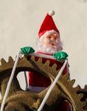 Overworked Santa on duty royalty free stock photo