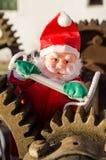 Overworked Santa on duty stock photos