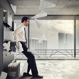 Overworked and stressed  businessman Royalty Free Stock Photos