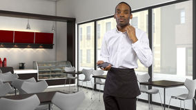 Overworked Waiter Stock Images