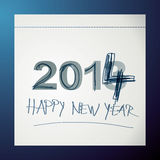Overwrite calendar. Happy New Year's card 2014 royalty free illustration