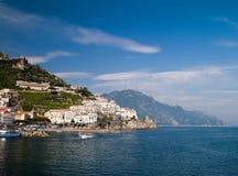 Overzees in Amalfi stock foto's