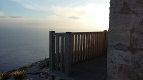 Overzees Balkon royalty-vrije stock foto's