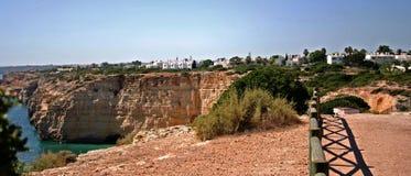 Overzees bij de kust van Algarve, Portugal voorraadfoto Royalty-vrije Stock Afbeeldingen