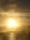 Overzees bij zonsondergang Royalty-vrije Stock Fotografie