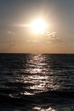 Overzees bij zonsondergang Stock Afbeeldingen
