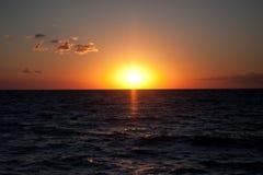 Overzees bij zonsondergang Stock Afbeelding