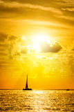 Overzees bij zonsondergang, het Zeer belangrijke westen Stock Afbeelding