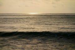 Overzees bij zonsopgang Royalty-vrije Stock Foto
