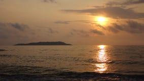 Overzees bij zonsopgang Stock Afbeeldingen