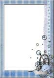 Overzees blauw frame No1 Stock Afbeeldingen
