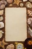 Overzees concept en oud document Royalty-vrije Stock Foto