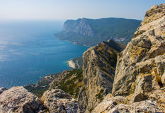 Overzees, de Zwarte Zee, toerist, toerisme, de Krim Stock Fotografie
