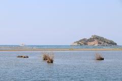 Overzees delta van de Dalyan-rivier stock foto's