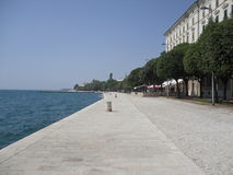 Overzees door Zadar Kroatia Royalty-vrije Stock Afbeelding