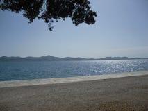 Overzees door Zadar Kroatia Stock Afbeeldingen