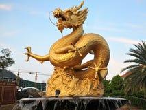 Overzees Dragon Statue Stock Afbeelding