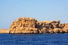Overzees en bergen in Egypte Royalty-vrije Stock Afbeeldingen