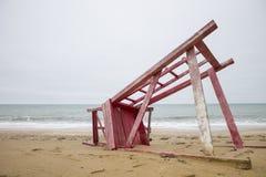 Overzees en ecologie van slecht weer Stock Foto