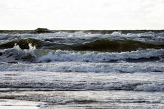 Overzees en golven Royalty-vrije Stock Fotografie
