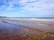 Overzees en hemel 2 van het zand Royalty-vrije Stock Afbeeldingen