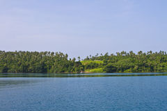 Overzees en hemel bij eiland Kood Royalty-vrije Stock Foto's