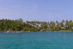 Overzees en hemel bij eiland Kood Royalty-vrije Stock Afbeelding