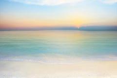 Overzees en hemel bij zonsondergang Stock Foto
