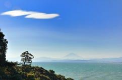 Overzees en Mt. Fuji. Royalty-vrije Stock Fotografie