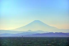 Overzees en Mt. Fuji. Royalty-vrije Stock Afbeeldingen
