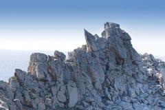 Overzees en rots Stock Fotografie