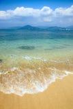 Overzees en strand Stock Foto's