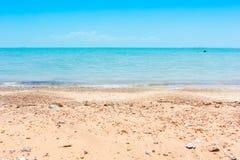Overzees en strand Royalty-vrije Stock Afbeelding